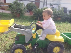 María y su tractor
